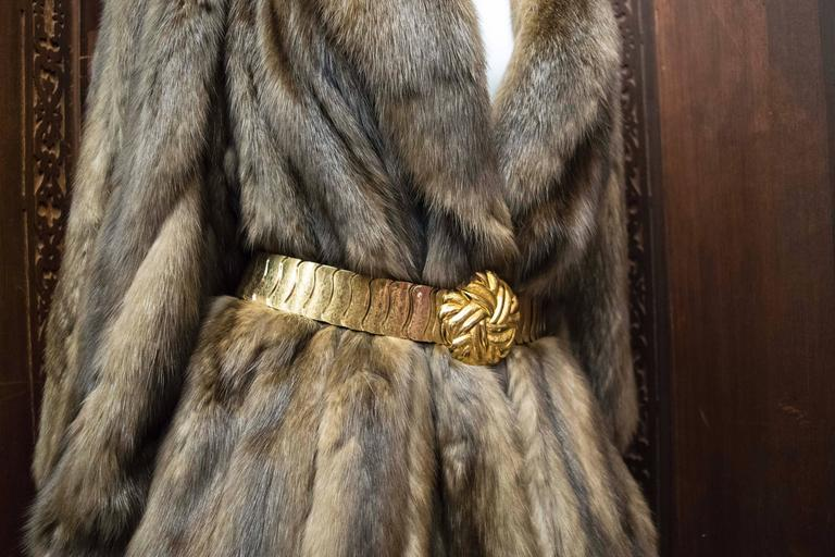 Karl Lagerfeld Sable Fur Coat.  In Good Condition For Sale In San Francisco, CA