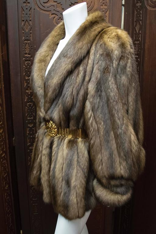 Women's Karl Lagerfeld Sable Fur Coat.  For Sale