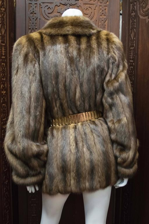 Karl Lagerfeld Sable Fur Coat.  For Sale 1