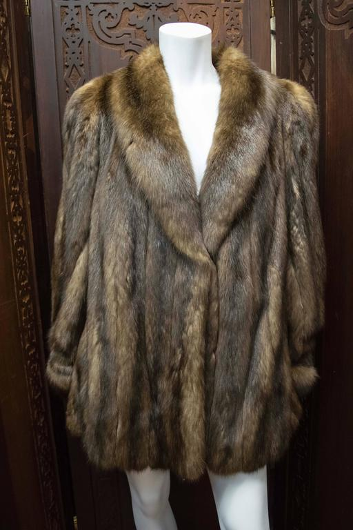 Karl Lagerfeld Sable Fur Coat.  For Sale 2