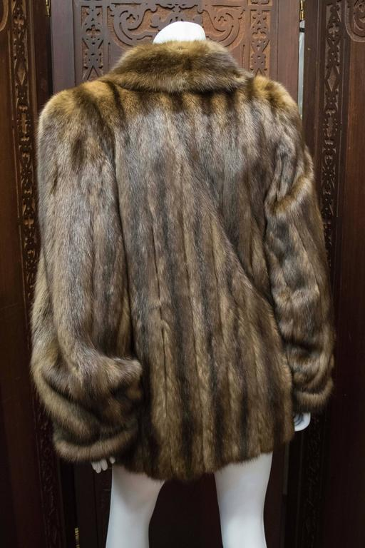 Karl Lagerfeld Sable Fur Coat.  For Sale 3