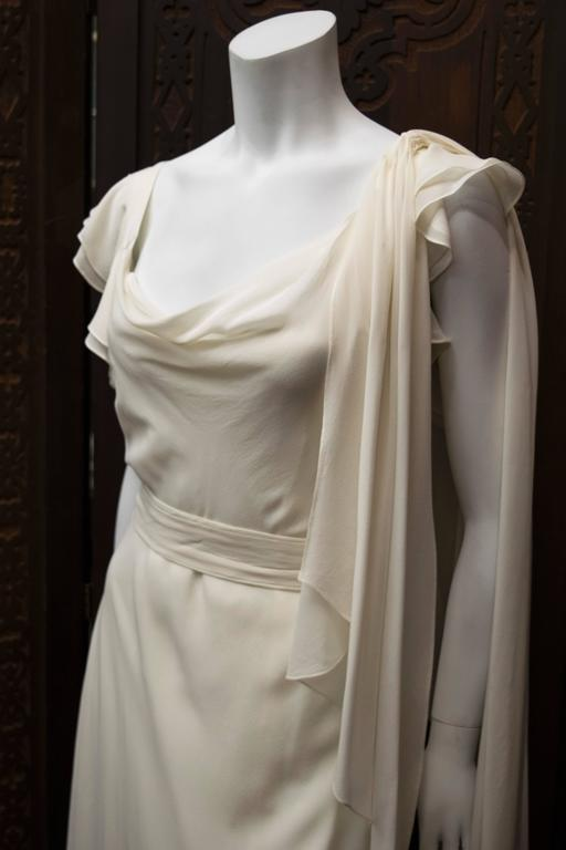 1930's Ivory Silk Chiffon Dress.