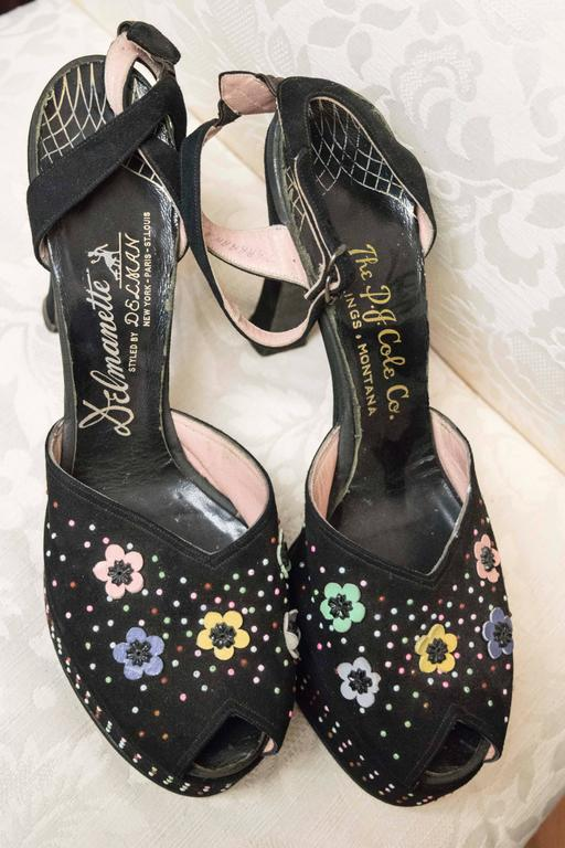 1940s Beaded Platform Shoes.