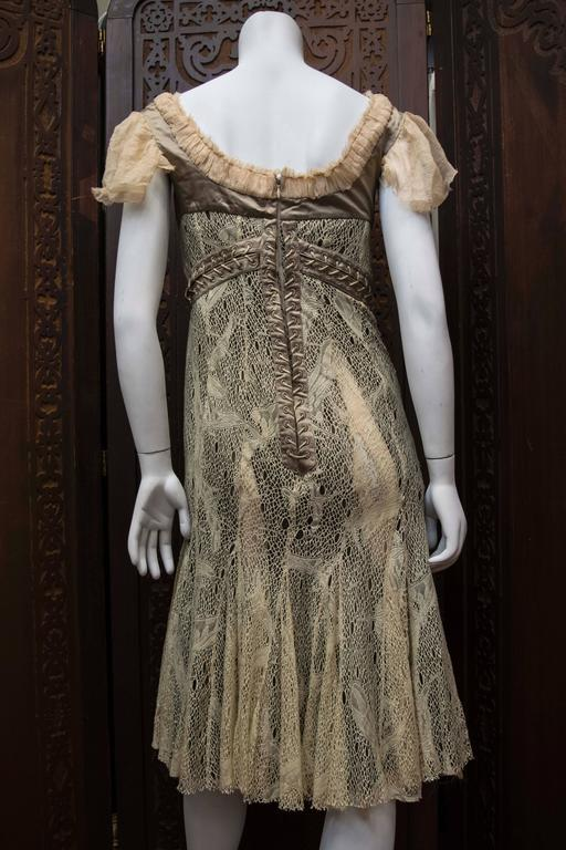 2002 Alexander McQueen 'Milkmaid' Corset Cocktail Dress For Sale 3
