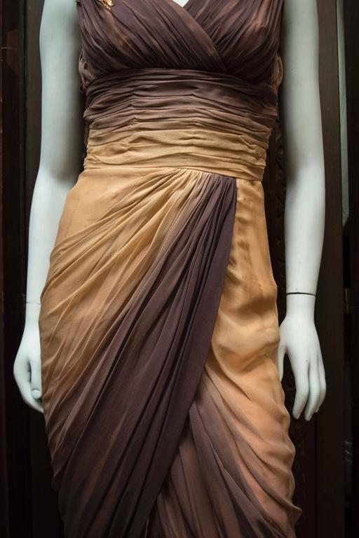 Women's 1950s Ombre Evening Dress For Sale