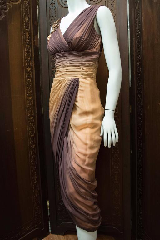 1950s Ombre Evening Dress For Sale 2