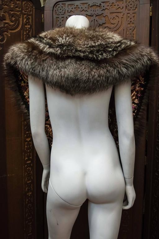 Women's Silver Fox Fur Wrap For Sale