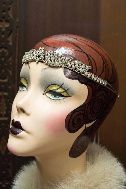1920s Swarovski Crystal Headband   3
