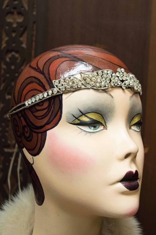 1920s Swarovski Crystal Headband   In New Never_worn Condition For Sale In San Francisco, CA