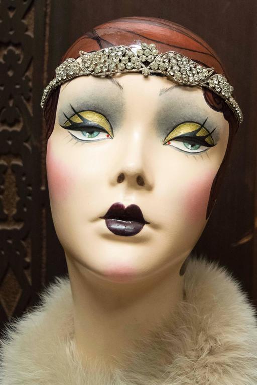 1920s Swarovski Crystal Headband   5