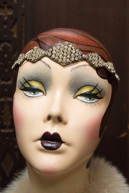 Women's 1920s Swarovski Crystal Headband   For Sale