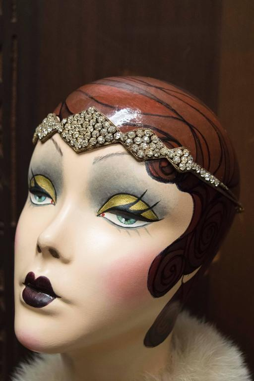 1920s Swarovski Crystal Headband   In New never worn Condition For Sale In San Francisco, CA