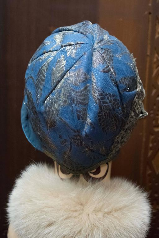 1920s Blue Cloche Hat In Good Condition For Sale In San Francisco, CA