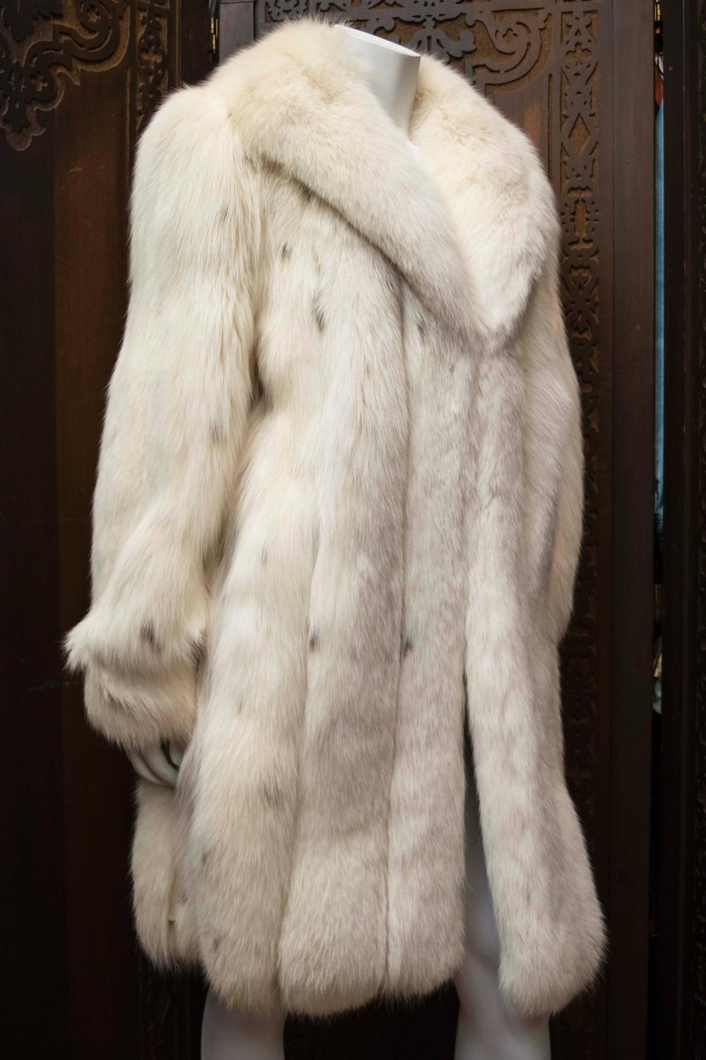 Ivory Spotted Fox Fur Coat At 1stdibs