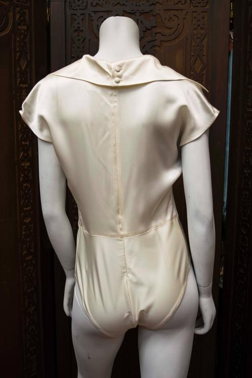 Women's 1990s Karl Lagerfeld Ivory Silk Blouse  For Sale