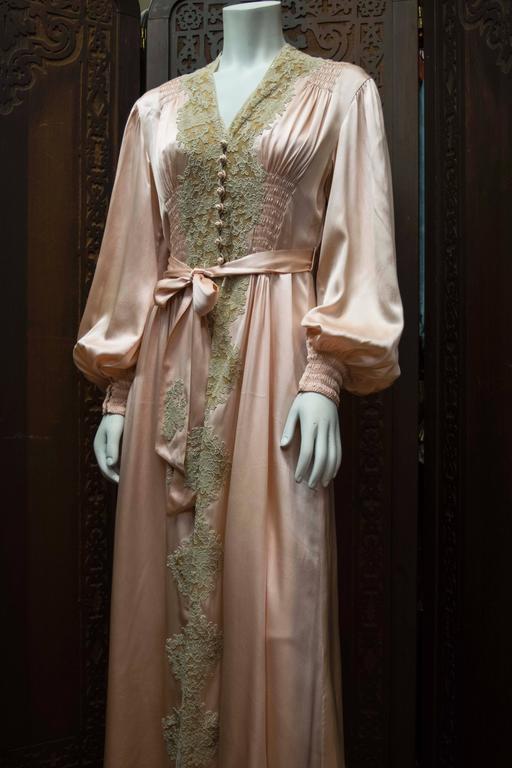 1930s Two Piece Loungewear Gown And Robe At 1stdibs