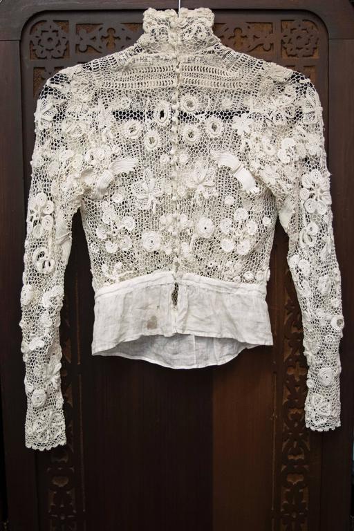 Edwardian Irish Crochet Blouse 5