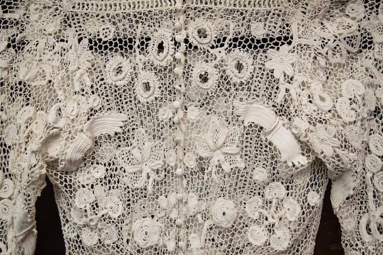 Edwardian Irish Crochet Blouse 6