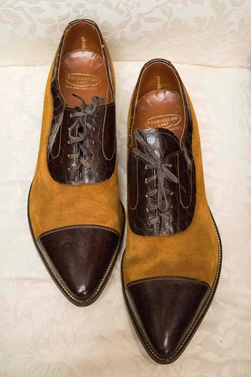 1970s Mens Suede And Leather Shoes At 1stdibs