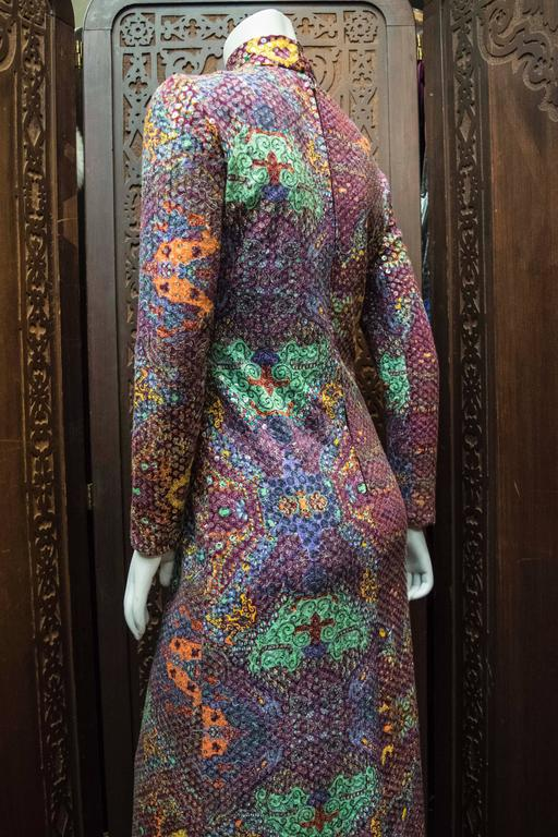 Malcolm Starr Sequined Psychedelic Dress, 1970s 7