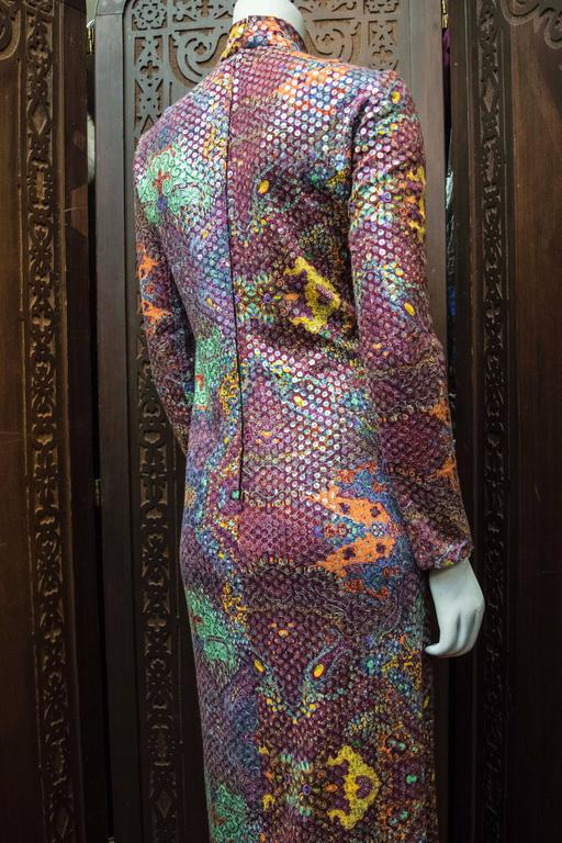 Malcolm Starr Sequined Psychedelic Dress, 1970s 8