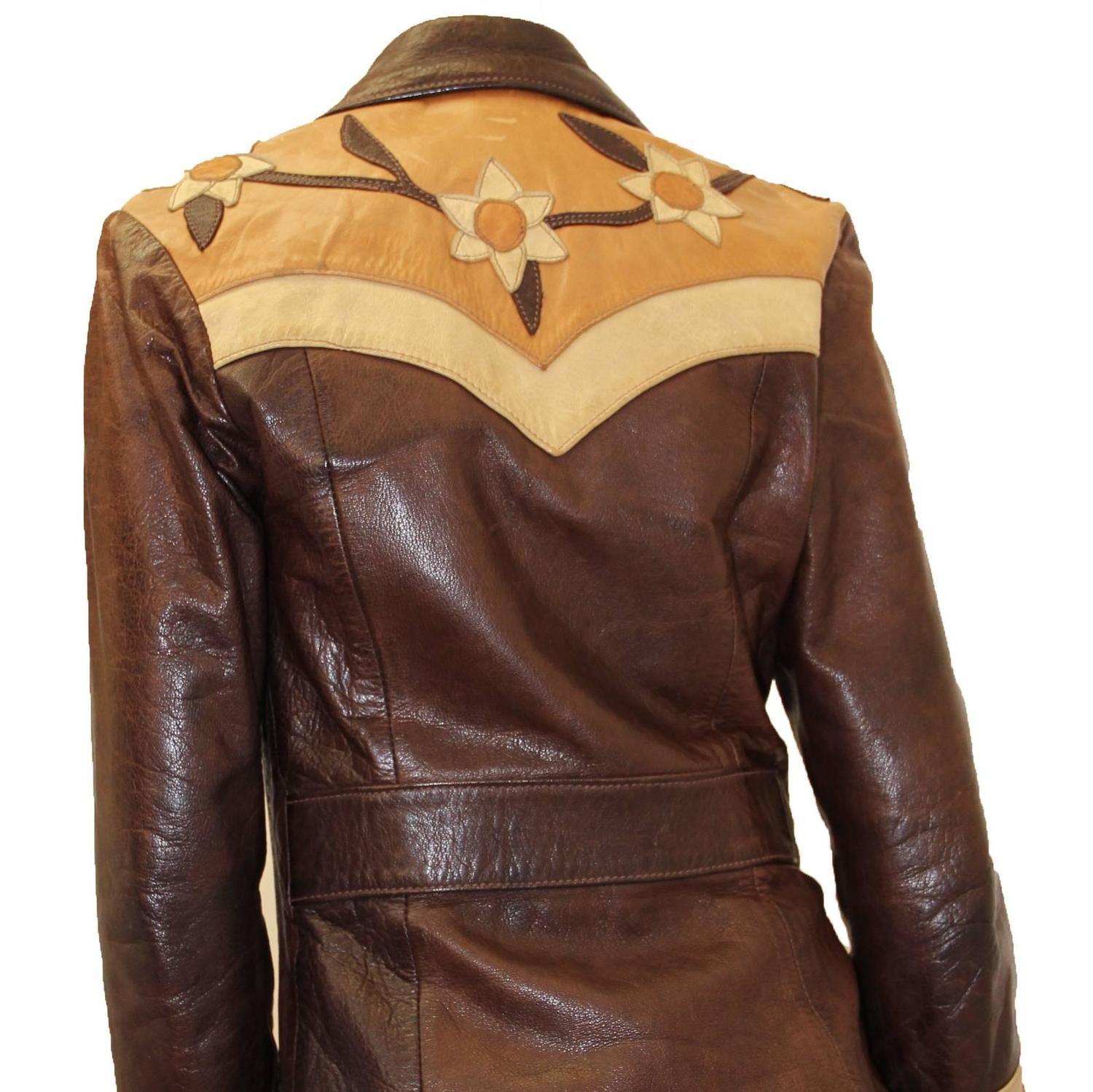 Late 1960s Handmade Leather Jacket For Sale At 1stdibs
