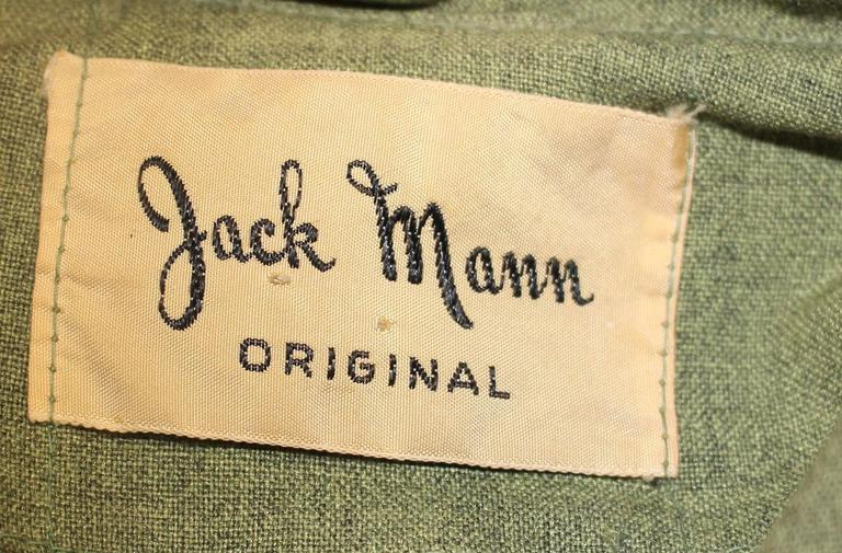 1950s Jack Mann Dress and Matching Hat Both with Mink Fur Accents  For Sale 3