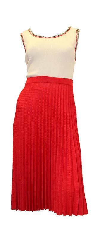 1960s St. John Pleated Skirt Set   2