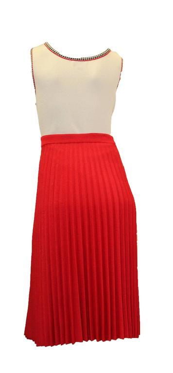 1960s St. John Pleated Skirt Set   4