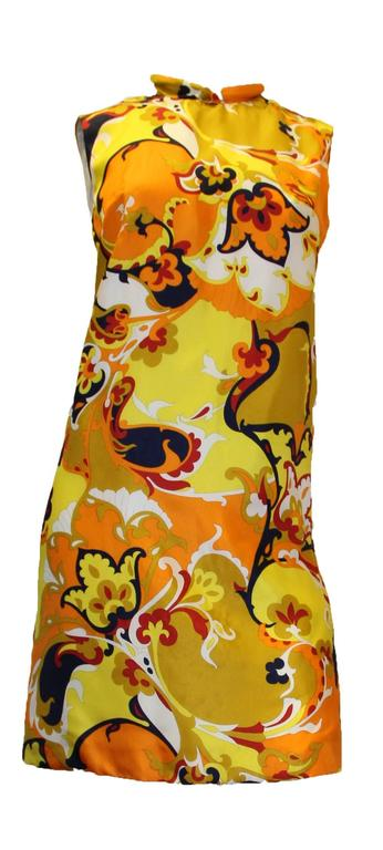 1960s Psychedelic Printed Shift Dress 2