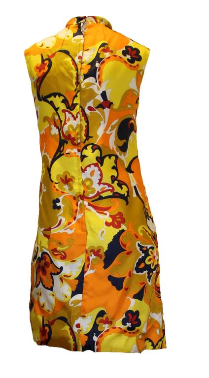 1960s Psychedelic Printed Shift Dress 3