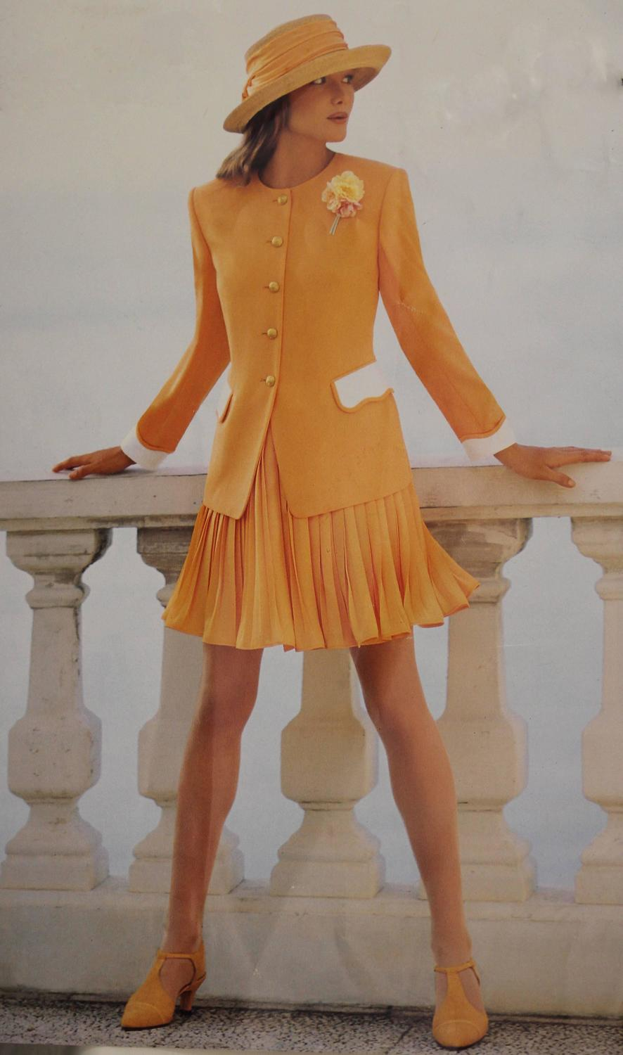 1980s Escada Two Piece Jacket And Skirt Set For Sale At