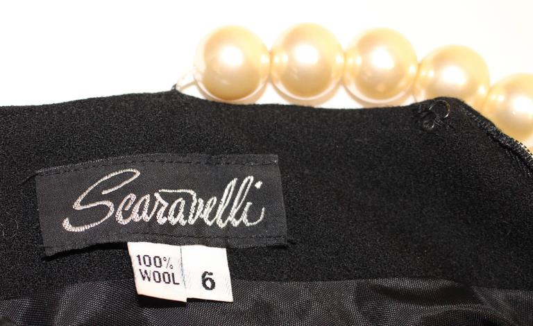 1990s Searavelli Mini Dress with Pearl Strand Straps  In Excellent Condition For Sale In San Francisco, CA