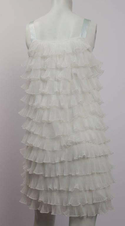 60s Tiered Ruffle Shift Dress