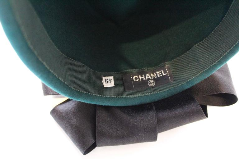 Chanel Peacock Blue Hat 8