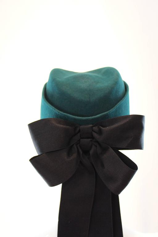 Chanel Peacock Blue Hat 5