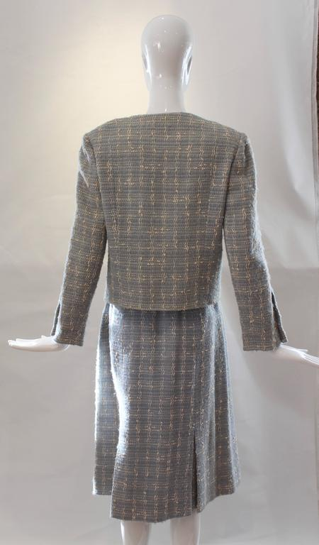 Chanel Blue Tweed Skirt Suit  10
