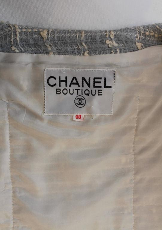 Chanel Blue Tweed Skirt Suit  2