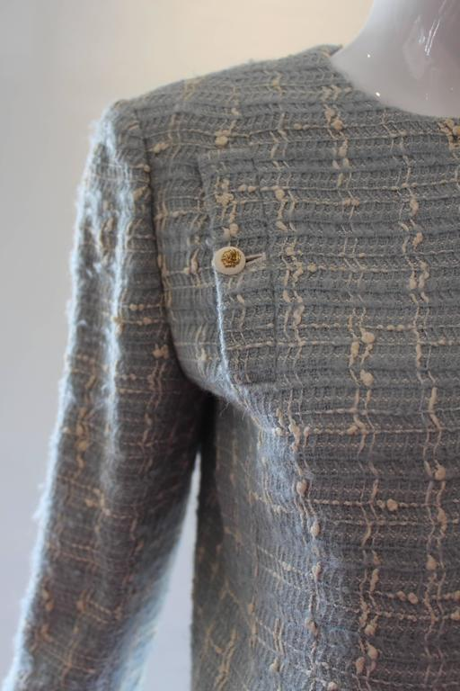 Chanel Blue Tweed Skirt Suit  4