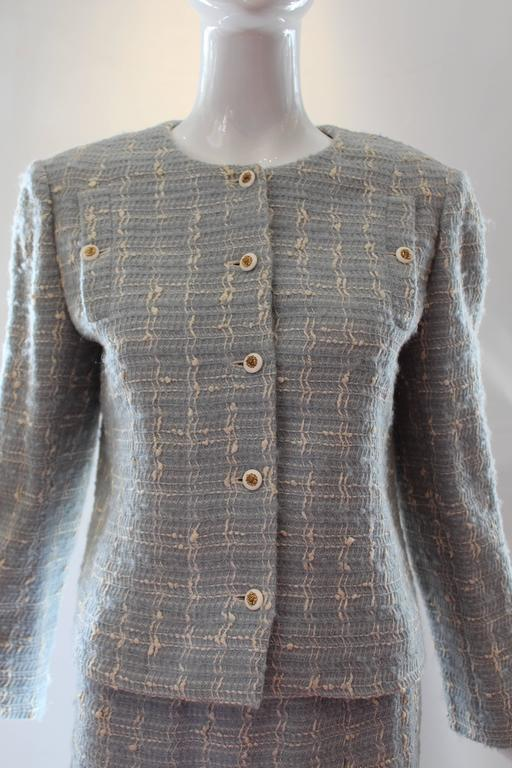 Chanel Blue Tweed Skirt Suit  3