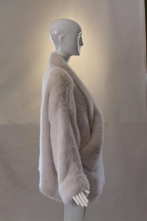 Christian Dior Crochet White Mink Jacket Coat At 1stdibs