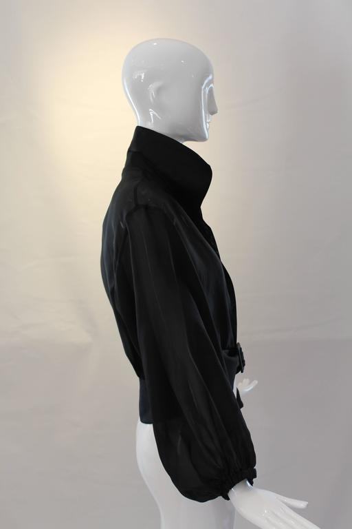 Yves Saint Laurent Rive Gauche Black Sheer Blouse Jacket  6