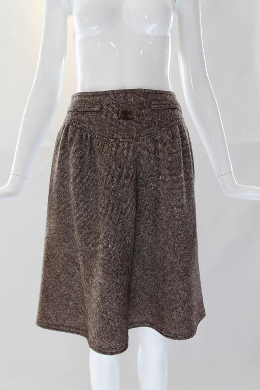 1960s Courreges Tweed Skirt In Excellent Condition For Sale In Houston, TX