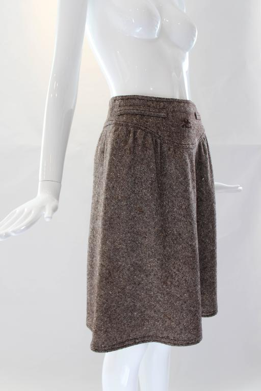 Women's 1960s Courreges Tweed Skirt For Sale