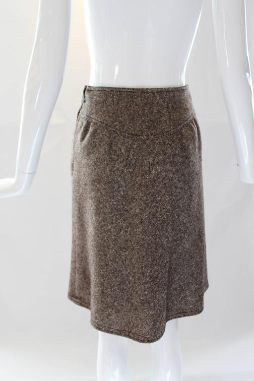 1960s Courreges Tweed Skirt For Sale 1