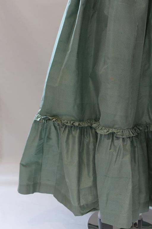 1980s Vintage Oscar de la Renta Gingham Ball Skirt  For Sale 3