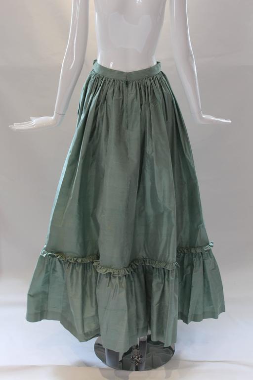 1980s Vintage Oscar de la Renta Gingham Ball Skirt  For Sale 2