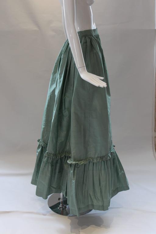 1980s Vintage Oscar de la Renta Gingham Ball Skirt  For Sale 1