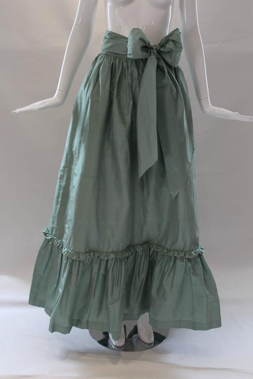 Gray 1980s Vintage Oscar de la Renta Gingham Ball Skirt  For Sale
