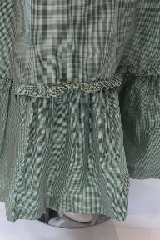 1980s Vintage Oscar de la Renta Gingham Ball Skirt  For Sale 4